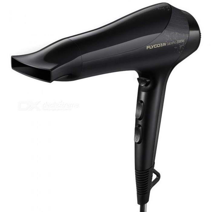 Buy Flyco FH6266 2000W Household Hair Dryer - Black with Litecoins with Free Shipping on Gipsybee.com