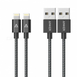Anker-1m-33ft-Premium-Nylon-Lightning-Cable-Apple-MFi-Certified-for-iPhone-X-XS-Max-Plus-iPad-Pro-Air-AirPods-gray