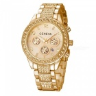 Fashion-Luxury-Crystal-Quartz-Metal-Womens-Watch-Golden
