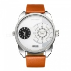 CAGARNY-6813-Fashion-Leather-Quartz-Analog-Wrist-Watch-White-2b-Brown