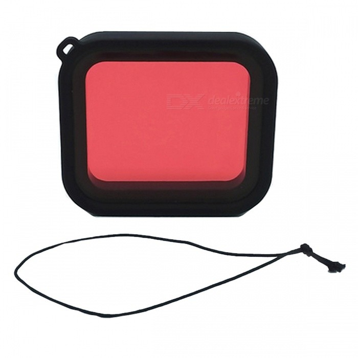 Buy Professional Diving Housing Filter for GoPro Hero 5 - Red with Litecoins with Free Shipping on Gipsybee.com