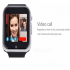 GW05 3G Wi-Fi GPS Bluetooth V4.0 Wearable Smart Phone Uhr-Silber