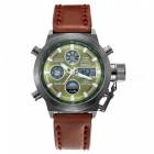 Mens-Leather-Canvas-Strap-Sport-Analog-2b-Digital-Quartz-Watch
