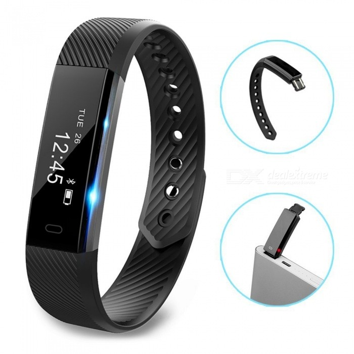 ID115 Touchscreen-Fitness-Tracker-Uhr Mit Intelligentem Armband