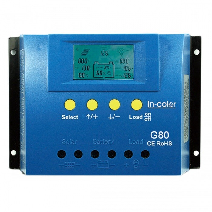 IN-COlOR-12V24V-80A-LCD-Display-PWM-Solar-Charge-Controller-Blue