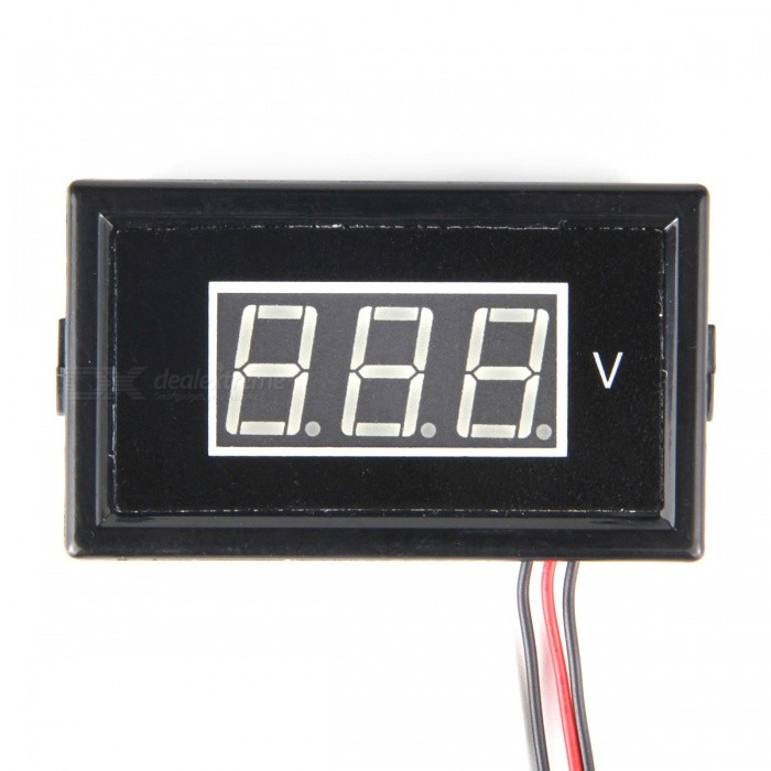 HakkaDeal V85D DC 0 ~ 100V 0.56 LED Blauw Display Digitale Voltmeter
