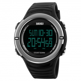 SKMEI-1209-Mens-Digital-Sports-PU-Band-Wrist-Watch-Black