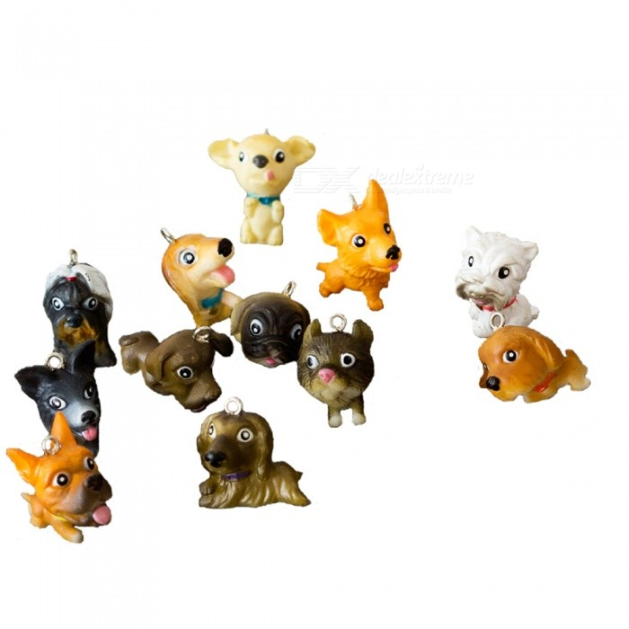 Buy Mobile Pendant Puppy Style Doll Decorations - White + Brown (12pcs) with Litecoins with Free Shipping on Gipsybee.com