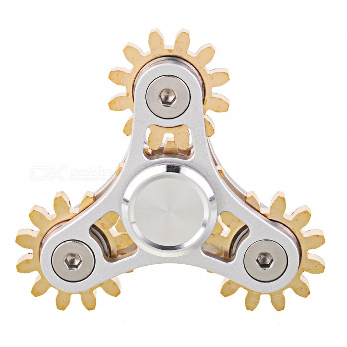 Zanhoo Aluminum Brass R188 Steel Hand Fidget Spinner EDC Toy - SilverFinger Toys<br>Form  ColorSilver + BrassQuantity1 pieceMaterialAluminum &amp; BrassGenderUnisexPacking List1 x Fidget toy<br>