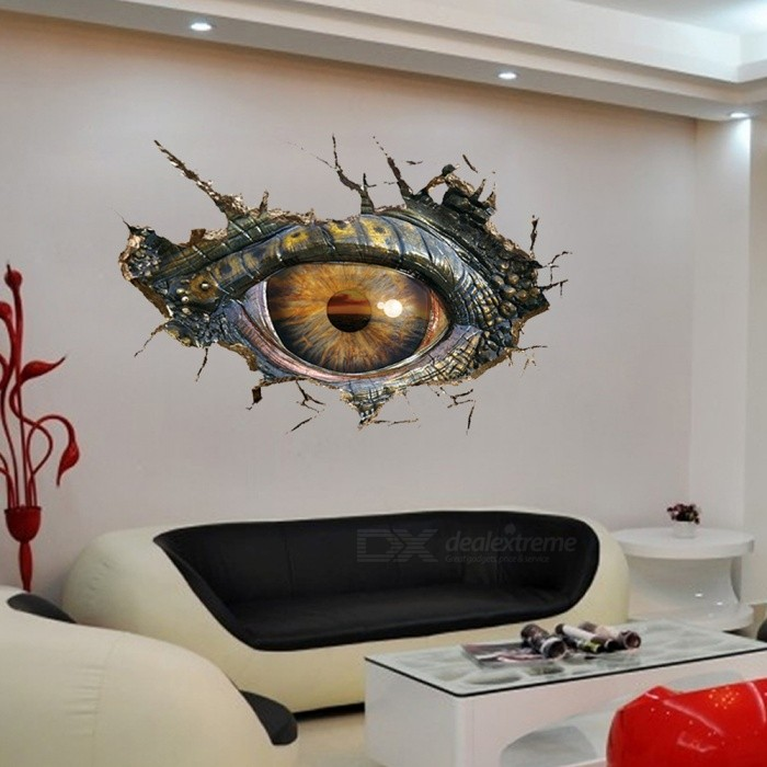 Removable DIY 3D Large Eyes Decorated Wall Stickers - Free Shipping ...