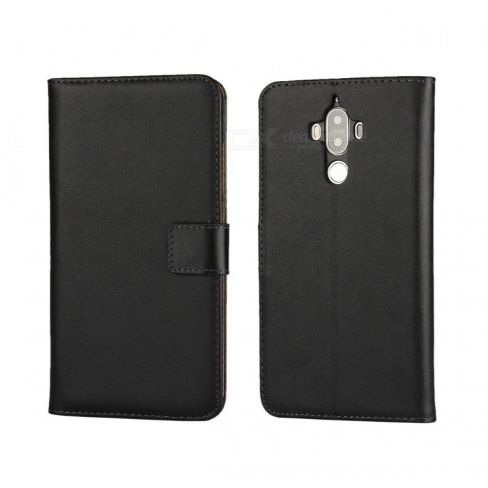Protective Flip-Open Split Leather Case for Huawei Mate 9 - BlackLeather Cases<br>Form  ColorBlackModelN/AMaterialSplit leatherQuantity1 DX.PCM.Model.AttributeModel.UnitShade Of ColorBlackCompatible ModelsHuawei mate 9Packing List1 x Case<br>