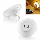 BSTUO-Dual-USB-Charger-Sensor-Nightlight-LED-Wall-Lamp-(US-Plugs)