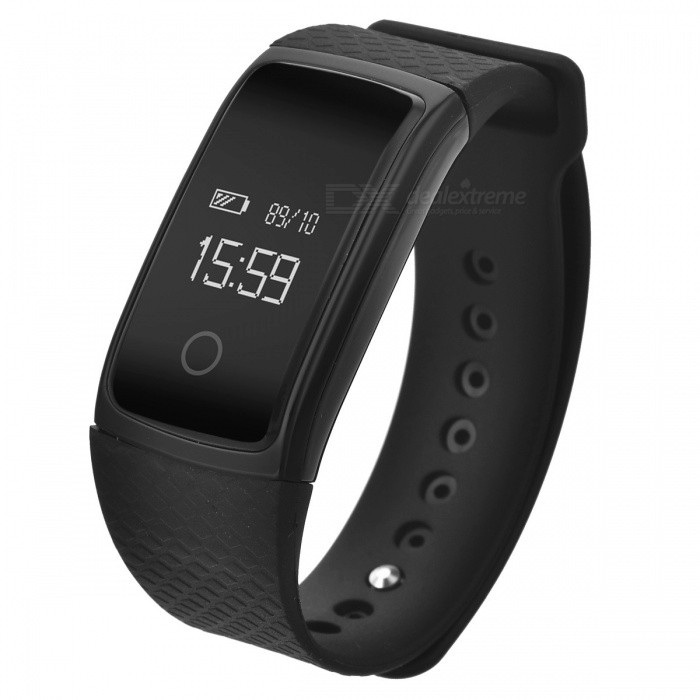 IP67 Waterproof Bluetooth Smart Bracelet Fitness Tracker - BlackSmart Bracelets<br>Form  ColorBlackQuantity1 DX.PCM.Model.AttributeModel.UnitMaterialABSShade Of ColorBlackWater-proofIP67Bluetooth VersionBluetooth V4.0Touch Screen TypeYesCompatible OSAndroid 4.4 or above, IOS 7.0 or aboveBattery Capacity70 DX.PCM.Model.AttributeModel.UnitBattery TypeLi-polymer batteryStandby Time20 DX.PCM.Model.AttributeModel.UnitPacking List1 x Fitness Tracker1 x Charging Cable1 x User Manual<br>