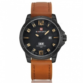 NAVIFORCE-9061-Mens-Sports-Army-Leather-Wrist-Quartz-Watch