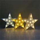 Star Night Light LED för barn Sovrum Decor Kids Gift Toy - Gul