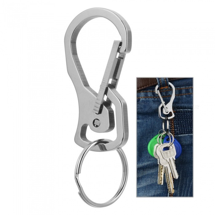 FURA 440 Stainless Steel Carabiner Keychain - SilverForm  ColorSilverQuantity1 DX.PCM.Model.AttributeModel.UnitMaterial440 Stainless SteelBest UseFamily &amp; car camping,Mountaineering,Travel,CyclingCarabiner typeNon-locking carabinerWeight Limit25 DX.PCM.Model.AttributeModel.UnitTypeCarabiners,Others,KeychainPacking List1 x Keychain Carabiner<br>