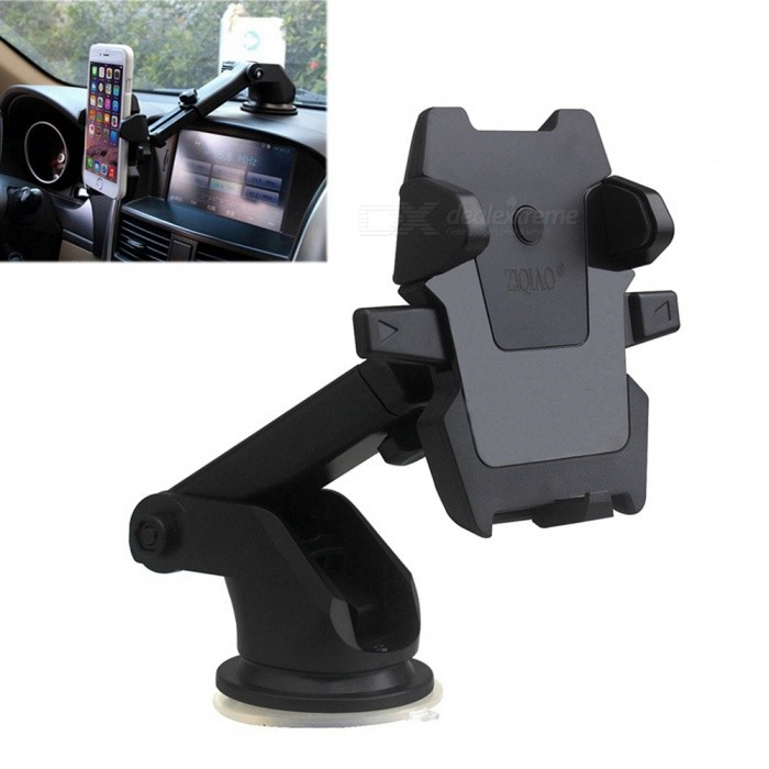 ZIQIAO Universal Car Windshield Long Arm Smartphone Holder - BlackGPS Holders<br>Form  ColorBlackModelCZZJ W005Quantity1 DX.PCM.Model.AttributeModel.UnitMaterialABSApplicable ProductsIPHONE 5,IPHONE 4,IPHONE 4S,IPHONE 3G,IPHONE 3GS,Universal,GPSAdjustable Height5~16.5cmAdjustable Width:5~8.5cmRotation360 DX.PCM.Model.AttributeModel.UnitMax. Load5 DX.PCM.Model.AttributeModel.UnitPacking List1 x Car Holder<br>