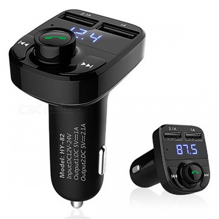 Car-Wireless-Bluetooth-Kit-MP3-Audio-Player-FM-Transmitter-Black