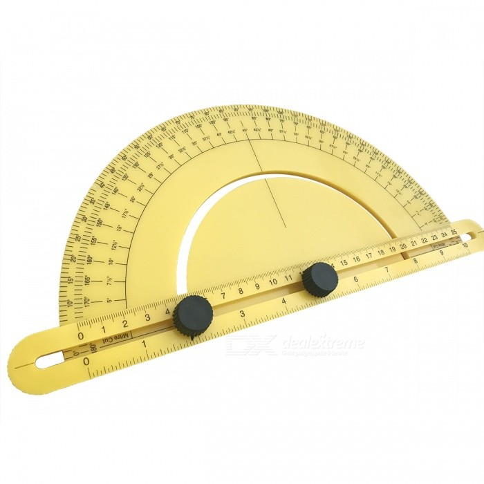 Universal Combined Angle Measuring Protractor Ruler - YellowOther Tools<br>Form  ColorYellowQuantity1 setMaterialABSPacking List1 x Protractor<br>
