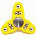 9-boll Tri-spinner Hand Spinner Fidget Toy Stress Reliever Toy -Yellow
