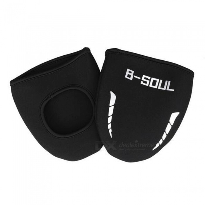 Buy B-SOUL Dustproof Cold Warm Bicycle Riding Shoes Cover - Black (1 Pair) with Litecoins with Free Shipping on Gipsybee.com