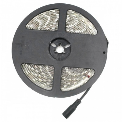 SZFC 5m 300-LED Warm White Waterproof LED Strip with EU Power Adapter