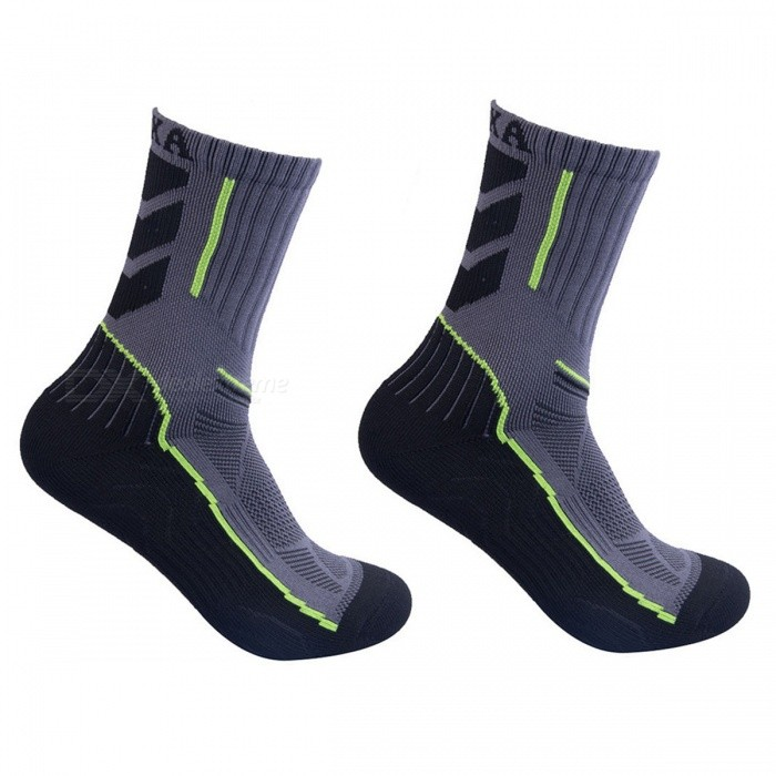Buy CAXA Men's Outdoor Sports Hiking Running Socks - Green with Litecoins with Free Shipping on Gipsybee.com
