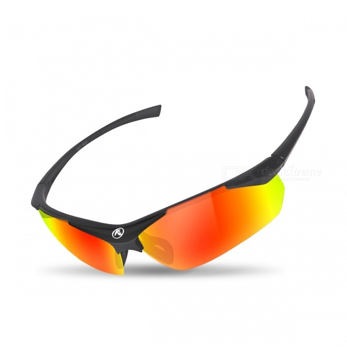 Buy NUCKILY Unisex Outdoor Riding Polarized UV Protection Glasses - Black with Litecoins with Free Shipping on Gipsybee.com