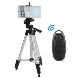 Cwxuan-Retractable-Tripod-Mount-Holder-with-Bluetooth-Control-Silver