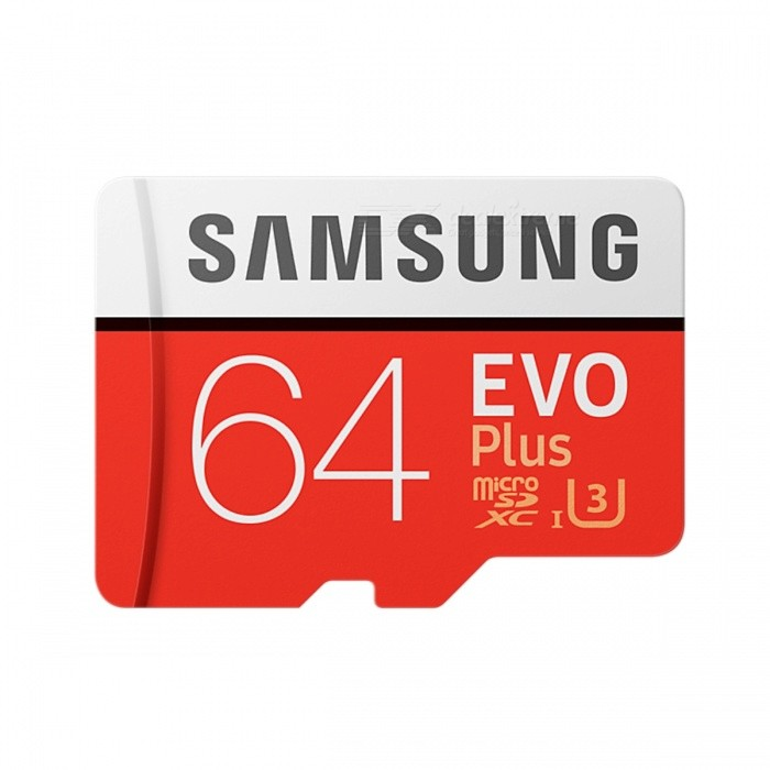 Samsung R100 W60 MB-MC64G EVO Plus 64GB MicroSD Card
