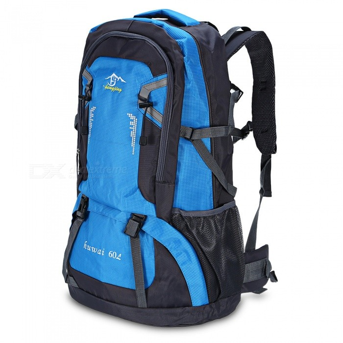 d6d2699956f2 ... Multi-Function Waterproof 60L Backpack for Outdoors - Blue   Black   Red
