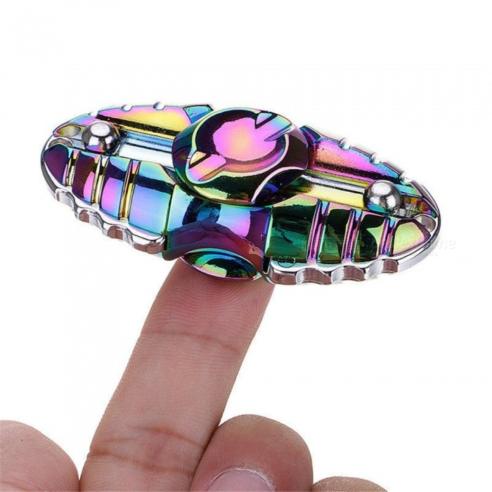 OJADE Beetle Shape Hand Fidget Stress Relief Spinner Toy - Colorful