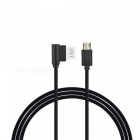 Cwxuan Double Side Plug Micro USB till USB-data laddningskabel (150cm)