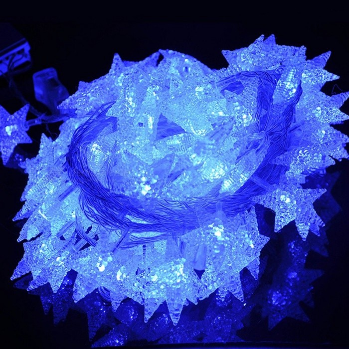 33ft-10m-Star-Shape-Blue-Fairy-String-Lights-with-8-Flash-Modes