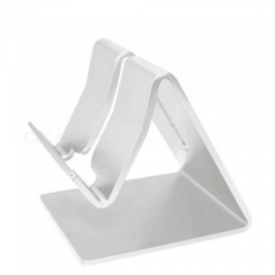 Aluminum Alloy Desktop Mobile Phone Stand - Silver