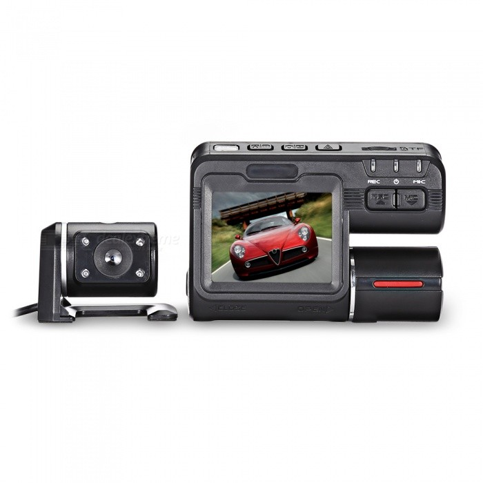 KELIMA-I1000s-Dual-Lens-High-Speed-1080P-Driving-Recorder-DVR-Black