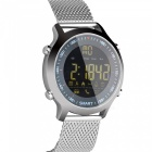 EX18 5ATM Waterproof Bluetooth V4.0 Smart Watch with Pedometer -Silver