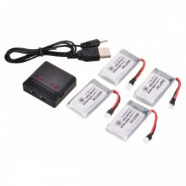 ENGPOW-Four-37V-600mAh-Lipo-Batteries-with-Charger-for-Syma-X5C