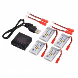 ENGPOW-Four-37V-750mAh-Lipo-Batteries-with-Charger-for-Syma-X5C