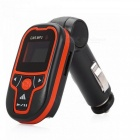 KELIMA Universal Car FM Transmitter, MP3 Player-Schwarz, Orange