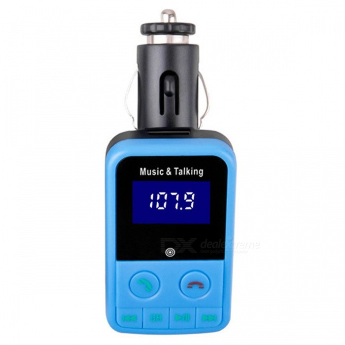 KELIMA-Car-FM-Transmitter-MP3-Player-Bluetooth-USB-Cigarette-Lighter