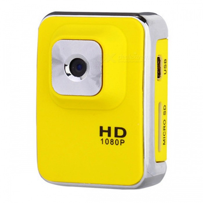 KELIMA Upgrade Version Mini HD 1.3MP Sport Kamera - Gelb