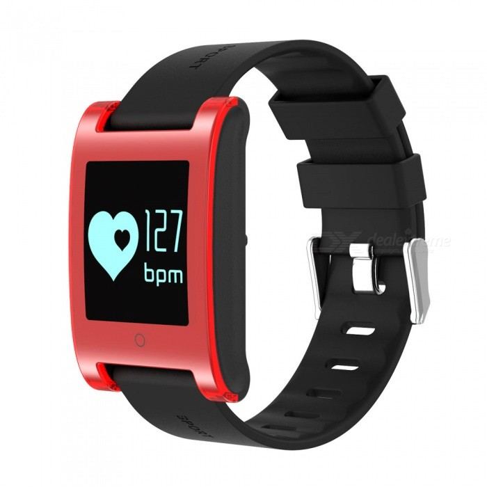 DM68 Waterproof Smart Bracelet with Blood Pressure Heart Rate - RedSmart Bracelets<br>Form  ColorRedModelDM68Quantity1 DX.PCM.Model.AttributeModel.UnitMaterialMetal + RubberShade Of ColorRedWater-proofIP67Bluetooth VersionBluetooth V3.0Touch Screen TypeOthers,OLEDCompatible OSiOS8 version above and Androld 4.3 version aboveBattery Capacity120 DX.PCM.Model.AttributeModel.UnitBattery TypeLi-polymer batteryStandby Time25 DX.PCM.Model.AttributeModel.UnitPacking List1 x Smart Bracelet1 x Charger 1 x User manual<br>