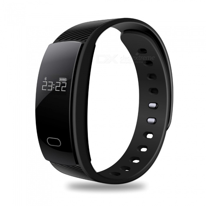Eastor QS80 Blood Pressure Heart Rate Monitor Smart Bracelet - BlackSmart Bracelets<br>Form  ColorBlackModelQS80Quantity1 DX.PCM.Model.AttributeModel.UnitMaterialABS + TPUShade Of ColorBlackWater-proofIP67Bluetooth VersionBluetooth V4.0Touch Screen TypeOthers,OLEDCompatible OSAndroid 4.3 / iOS 8.0 and above systemsBattery Capacity70 DX.PCM.Model.AttributeModel.UnitBattery TypeLi-polymer batteryStandby Time15-20 DX.PCM.Model.AttributeModel.UnitPacking List1 x Smart Wristband1 x Charging Cable1 x English User Manual<br>