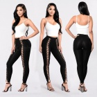 New-Sexy-Tie-Lace-Up-Slim-Pants-Black-(M)