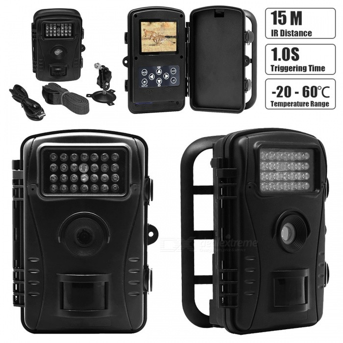 720P-80MP-24-Waterproof-Hunting-Trail-Camcorder-w-16GB-SD-Card