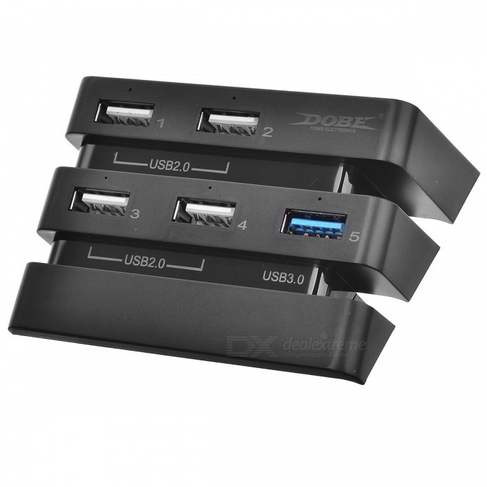 TP4-832 PS4 PRO USB HUB - BlackOther Accessories<br>Form  ColorBlackModelTP4-832Quantity1 pieceMaterialABSShade Of ColorBlackCompatible ModelsOthers,PS4 PROPacking List1 x Hub<br>