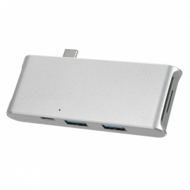 BSTUO-USB31-Type-C-to-3-Port-USB30-HUB-Card-Reader-Silver