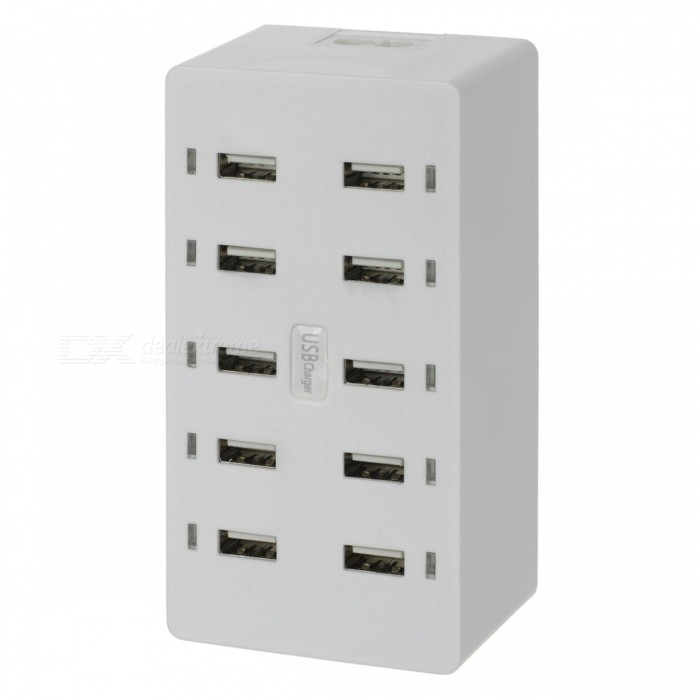 BSTUO-10-Ports-USB-20-Charger-1A-Each-Port-White
