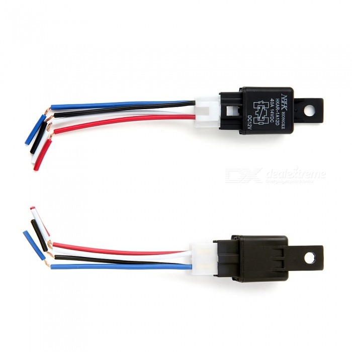 QooK Car Automotive DC 12V 12 Volt 30A AMP SPDT Wiring Power Relay Dc Amp V Relay Wiring on